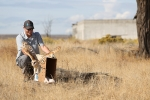 MSA wildlife biologists release the rehabilitated owl to the wild on the Hanford Site.