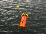 Acoustic Doppler velocimeter, deployed in Puget Sound, Washington State. Image courtesy Jim Thomson, University of Washington.
