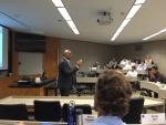CEIC Director Sanjiv Malhotra speaking at Duke University's EDGE Seminar (credit CEIC/OTT).