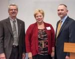 From left to right, SRNL Director Dr. Terry Michalske, University of South Carolina Aiken Chancellor Dr. Sandra Jordan, and DOE CIO Michael Johnson.