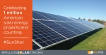 With 1 Million Solar Projects Across America, SunShot Shines On