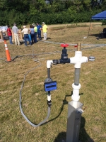 DOE and Mound Site personnel view an emulsified oil injection, part of SRNL's enhanced attenuation groundwater treatment approach at Mound.