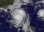 GOES satellite image of Hurricane Matthew. Credit NASA.