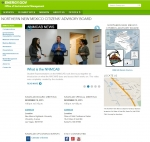 A view of Northern New Mexico Citizens' Advisory Board's updated website.