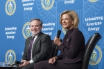Undersecretary for Nuclear Security and NNSA Administrator Lisa E. Gordon-Hagerty and Department of Energy Deputy Secretary Dan Brouillette share words of wisdom at NNSA headquarters leadership event