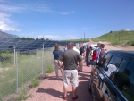 As part of the Dept. of Energy Scholars Program, veterans visited a solar array at the U.S. Army base in Fort Carson, Colorado.