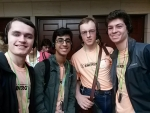 Gatton Academy's 2018 National Science Bowl team in Washington, D.C. (left to right): Ethan Brown, Anas Gondal, Phillip Wilkerson, and Benjamin Kash. Not Pictured: Cheryl Kirby-Stokes, Coach