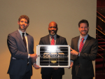 Henry Greenidge from the NYC Office of the Mayor receives the SolSmart Gold designation. Photo Courtesy of The Solar Foundation.