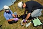 Soil sampling in Oak Ridge