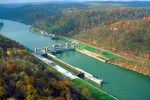 The Opekiska Lock and Dam, a non-powered dam on the Monongahela River. Credit: U.S. Army Corps of Engineers