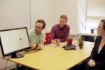 KWh Analytics employees discuss their solar portfolio management platform, HelioStats.