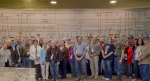 Tour participants stopped for a picture in the C-300 Central Control Facility at the Paducah DOE site during the inaugural community tour on April 23, 2016.  (Photo by Dylan Nichols, Fluor Paducah Deactivation Project)