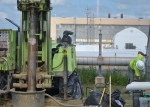 Operators drill wells during the first phase of the project to further optimize groundwater treatment.