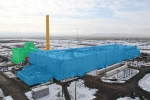 Demolition will progress from the Plutonium Reclamation Facility (green) to the Americium Recovery Room (red) during the remainder of 2016. Demolition of the main processing facility (blue) and the fan house and ventilation stack (orange) will begin in spring 2017.