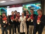 DAS Streit with winners of the cyber defense competition