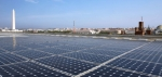 The photovoltaic array on top of the U.S. Department of Energy headquarters. (Photo Credit: U.S. Department of Energy)