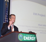 EM Principal Deputy Assistant Secretary Mark Whitney delivers the keynote address at this year's Contract and Project Management Workshop.