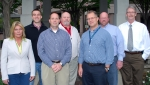 EM's Cost Estimating & Analysis Division includes, from left, Lori Erbele, Michael Mills, Russ Donaldson, Allen Moe, Steve Olszewski, Kevin Barry, and Terry Brennan.