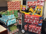 Pictured here are the Christmas gifts purchased with donations raised by EM staff for families of Nellis Air Force Base in Las Vegas.