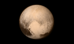 This image of Pluto, taken by New Horizons after a 9 1/2-year journey, is our highest-resolution photo of the dwarf planet since its discovery by Clyde Tombaugh in 1930. | Photo courtesy of NASA.