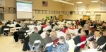 More than 100 Portsmouth Gaseous Diffusion Plant neighbors, community leaders, and workers attended a public meeting in November 2014 at a high school near the plant. Many of the attendees voiced their opinions on the preferred alternatives during the public comment part of the meeting.