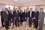 Senior level executives and the 2010 Presidential Rank Award winners. First Row:  Melvin Williams; Neile Miller for James B. Lambert and Theodore D. Sherry; Daniel Poneman, Patricia R. Worthington, Sandra Waisley for David A. Brockman, Secretary Chu, Frank B. Russo, and Steven Aoki.  Second Row:  William Barker for Andrew Lawrence, Raymond V. Furstenau, Charles McConnell for Victor A. Der, Michael Weis, and Michael C. Kane | Photo courtesy of the Energy Department.