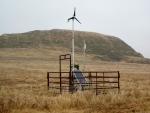A Primus Air40 wind turbine in a field.