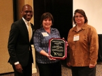 From left, Colmon Elrige, executive assistant to Kentucky Gov. Steve Beshear; Jennie Freels, quality assurance support and programs manager; and Michelle Dudley, quality assurance manager. Freels and Dudley are with LATA Environmental Services of Kentucky.