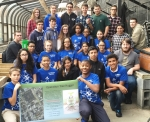 Students participating in the NEED Project at Scituate High and Calcutt Middle Schools planted 14 trees in Central Falls, Rhode Island. Photo Courtesy   Rhode Island Public Schools