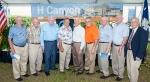H Canyon retirees enjoy the 60-year celebration of the facility. From left: Bill Whitlock, Jack Lowery, Bob Hanvey, George Blackburn, Jr., Zack Patrick, Alan Gregory, Frank Loudermilk, Jr., Bob Womack and Don Johnson.