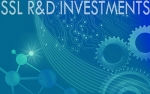 Stylized graphic with the words SSL R&D INVESTMENTS.