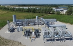 Aerial photograph of Roeslein Alternative Energy's Ruckman farm facility used to generate renewable natural gas from organic waste for delivery to the national pipeline. Photo courtesy of Roeslein Alternative Energy.