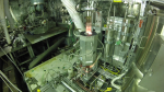 A furnace inside a hot cell at Oak Ridge National Laboratory