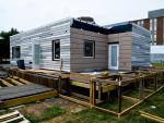 The Re_house is nearing completion.   Courtesy of the University of Illinois at Urbana-Champaign Solar Decathlon Team.