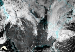 Hurricane Sandy -- shown here via satellite on the night of November 2, 2012 -- was the first real test of EAGLE-I's capabilities | Photo courtesy of CIMSS/University Wisconsin-Madison/NASA/NOAA.