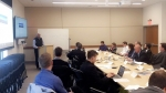 Sanjiv Speaks during Keynote -- CEIC Director and LINKS participants at SLAC National Accelerator Laboratory (credit DOE).