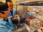 These researchers are part of a team studying the use of hydrogen for longer-lasting batteries. | Photos by Julie Russell, LLNL.