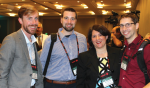 Dr. Susan Hamm (second from right) with Geothermal Technologies Office colleagues Sean Porse (far left) and Zach Frone (far right), and Stephen Henry, of the National Energy Technology Laboratory, at the Geothermal Resources Council in October. | Photo courtesy of Geothermal Resources Council
