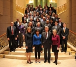 Deputy Secretary Sherwood-Randall and Secretary Pritzker pose with the trade mission delegation in Beijing.