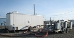 Equipment used in soil vapor extraction was used to reduce the level of carbon tetrachloride on the Hanford Site.