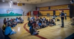 Colton Heaps, NREL Project Leader, leads a discussion during the Ute Moutain Ute Youth Energy Workshop held on July 6, 2016, at the Ute Mountain Recreation Center. Photo by Josh Bauer, NREL.