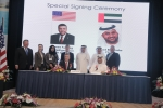 Signing ceremony for the Memorandum of Understanding between Johnson Controls and Empower on a district cooling demonstration project in Dubai.
