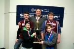 1st Place Henderson County North Middle School, from left: (Top) Deegan Lawrence, Coach Chris Fifer and D.J. Banks. (Bottom) Luke Payne, Alex Chandler and Nick Cissell (not pictured).