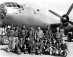 Dr. Green (top row, third from the right) with his B-29 crew members in Xian, China.   Image courtesy of Dr. Alex Green.