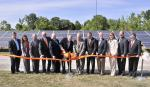 Deputy Secretary of Energy Daniel Poneman joins officials from Tennessee government agencies and the University of Tennessee at the official opening of the West Tennessee Solar Farm. | Energy Department photo.