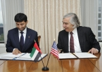 Secretary Moniz and UAE Minister of Energy Suhail Al Mazrouei signed a Memorandum of Understanding that reaffirms their commitment to a strong bilateral energy relationship, joint cooperation and exchange of ideas in the areas of energy and the energy-water nexus. Photo by DOE/Kenneth Shipp.