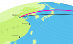 "The joint trade mission will make stops in Beijing, Shanghai and Guangzhou. | Map by <a href=""/node/712881"">Daniel Wood</a>, Department of Energy."