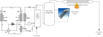 A conceptual vapor-compression cycle design (left of storage tanks) for the commercial integrated heat pump, as well as a conceptual representation of how this packaged rooftop unit would integrate with the water heating system of a commercial building (solar water heater optional). Image credit: Oak Ridge National Laboratory.