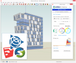 Screenshot of the SketchUp software with the Sefaira plug-in.