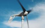 Photo of a small wind turbine.